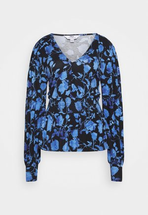 FLORAL SHIRRED WAIST BUTTON  - Long sleeved top - multi