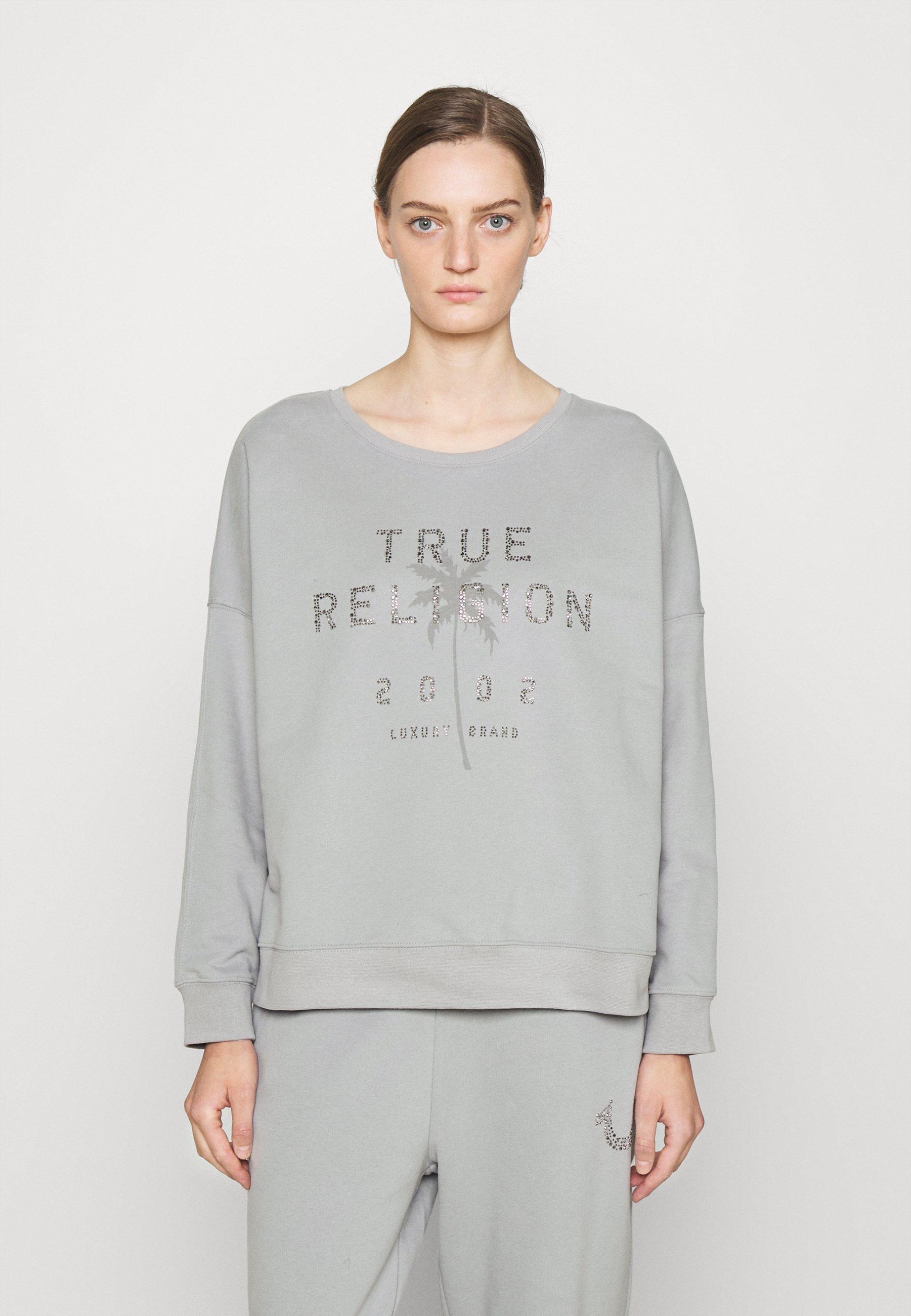 Damen BOXY CREW NECK PALM TREE - Sweatshirt