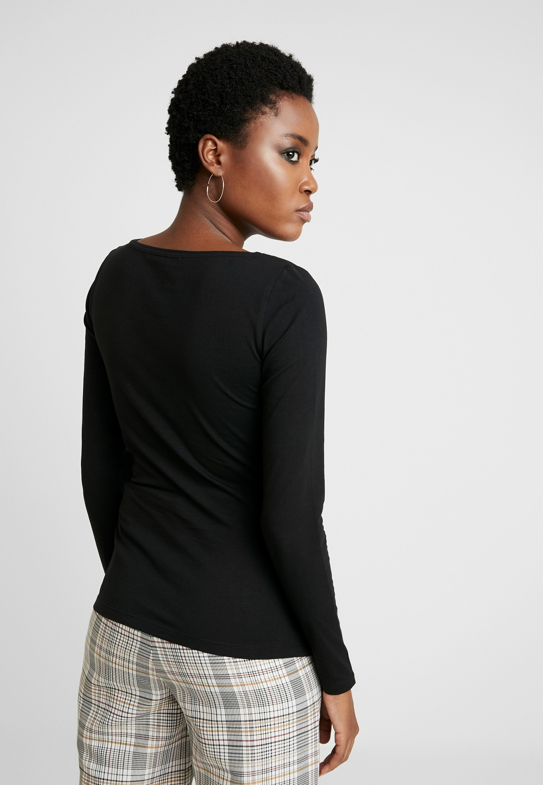 Anna Field 2 PACK - Camiseta de manga larga - black/black mBcyN