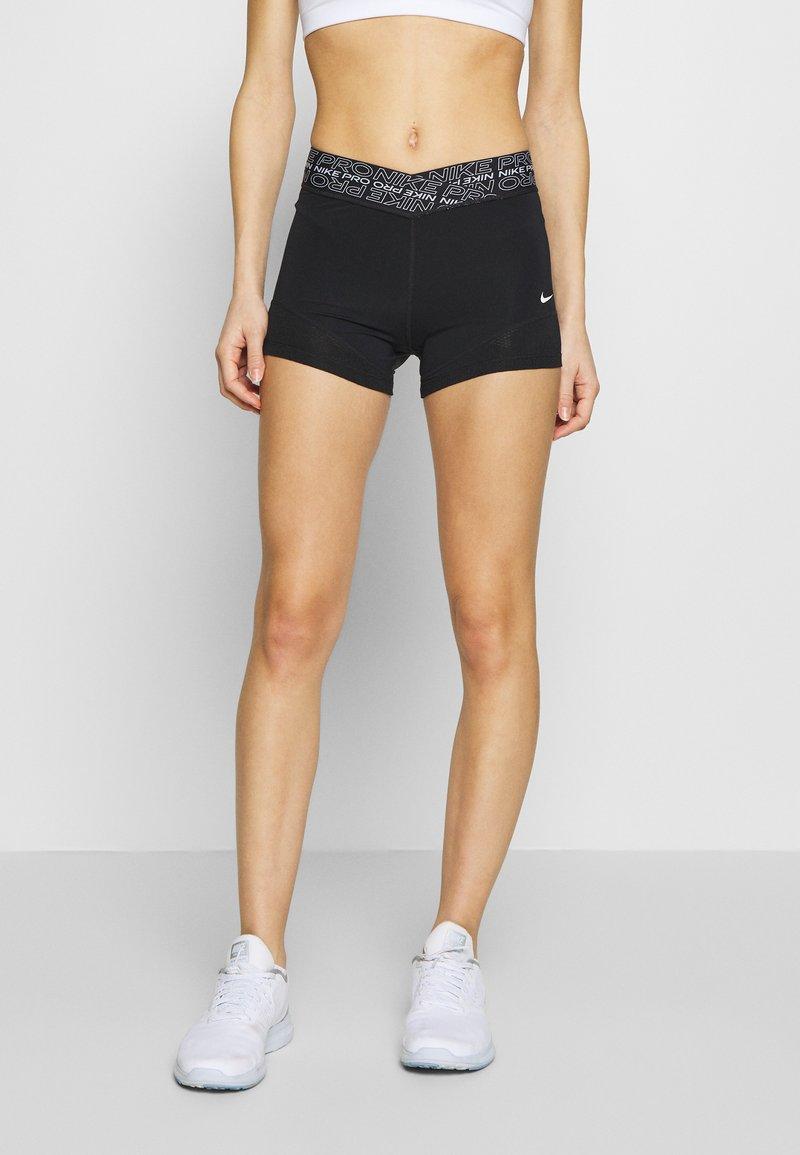Nike Performance - SHORT - Tights - black/white