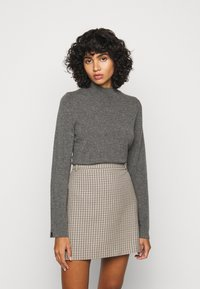 Repeat - SWEATER - Svetr - med grey - 0