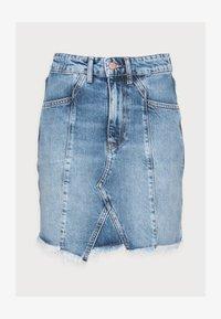 Even&Odd Petite - DENIM SKIRT - Denim skirt - light blue denim - 4