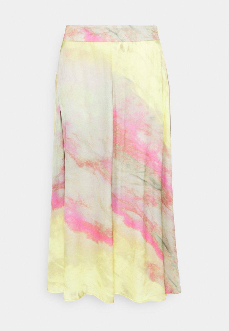 Esqualo - SKIRT BLURRED PRINT - Maxi skirt - multi-coloured