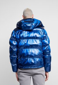 Champion Reverse Weave - HOODED PUFF JACKET - Winterjas - blue - 2