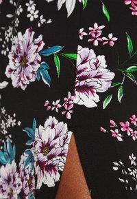JDY - JOSEPHINE LONG KIMONO - Summer jacket - black/white/blue - 4
