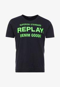 Replay - T-shirt med print - blue grey - 3