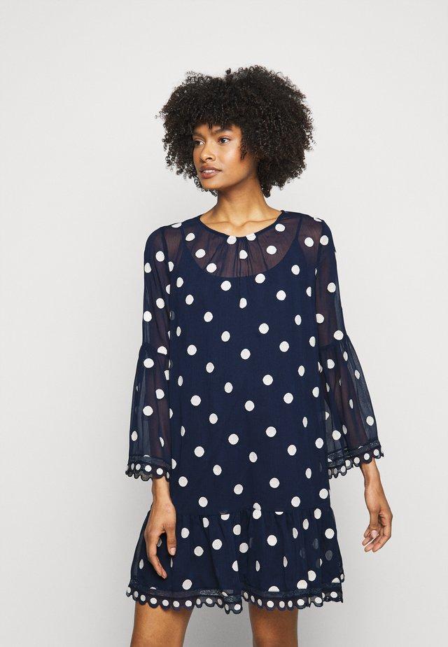 LOVELY DOT TUNIC DRESS - Korte jurk - navy blue
