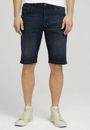 Denim shorts - dark stone blue black denim