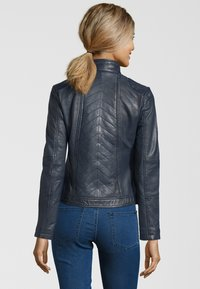 7eleven - RENATE - Leather jacket - navy - 1