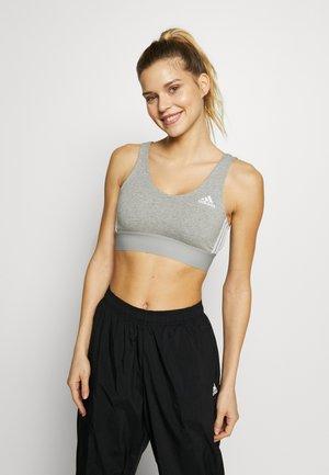 BRA TOP - Sports bra - medium grey heather/white