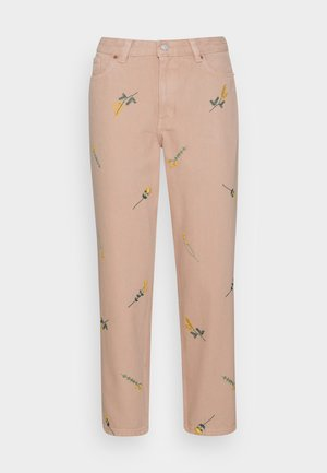 TAIKI JEANS EMBROIDERY - Jeans straight leg - beige embroidery
