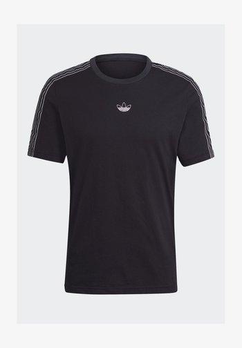 STRIPE UNISEX - T-shirt con stampa - black/chalk white