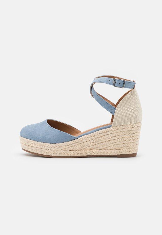 Scarpe con plateau - light blue