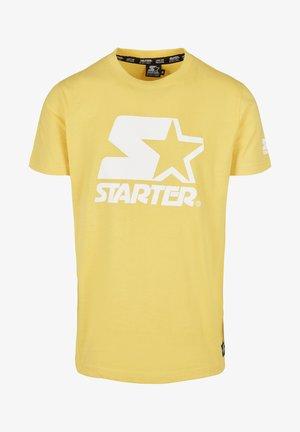 Print T-shirt - buff yellow