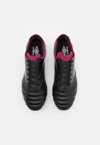 Umbro - TOCCO PRO SG - Screw-in stud football boots - black/white/raspberry radiance/pink peacock - 3
