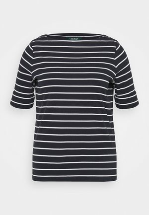 JUDY ELBOW SLEEVE - Basic T-shirt - lauren navy/white