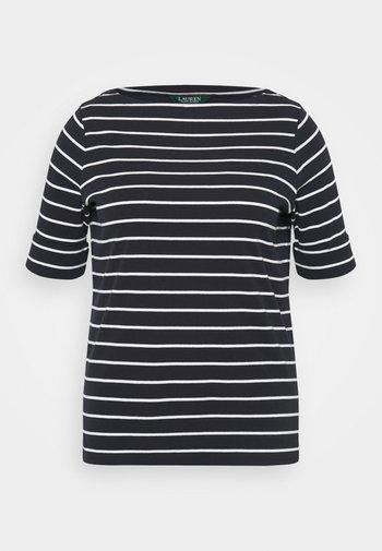 JUDY ELBOW SLEEVE - Basic T-shirt - lauren navy/white