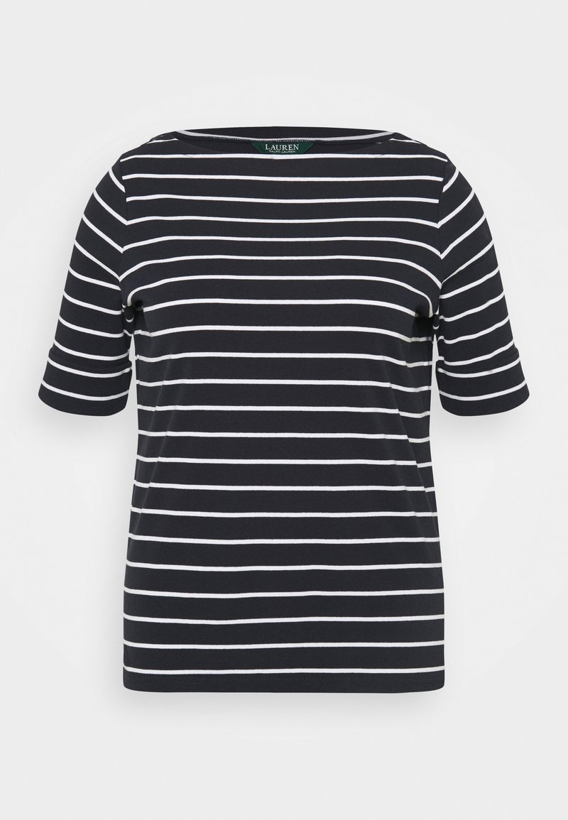 Lauren Ralph Lauren Woman - JUDY ELBOW SLEEVE - Basic T-shirt - lauren navy/white