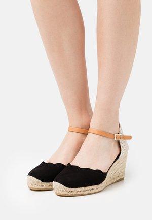 LAURA - Korkeakorkoiset sandaalit - schwarz
