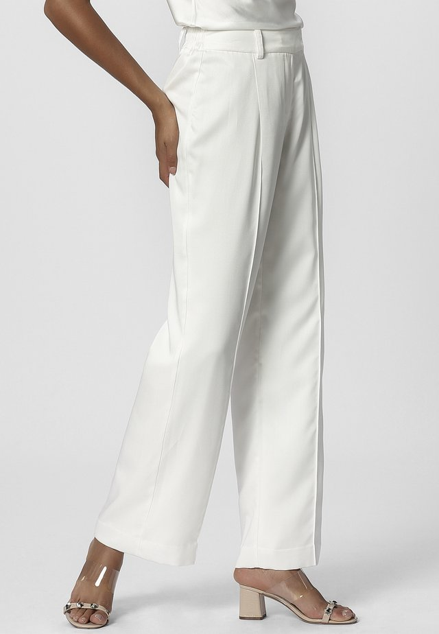 PANTS - Trousers - cream