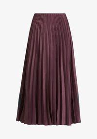 Vera Mont - MIT COLOR BLOCKING - A-line skirt - purple/grey - 3