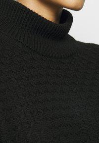 Neil Barrett - LOOSE MOCK NECK GUERNSEY - Strikkegenser - black - 6