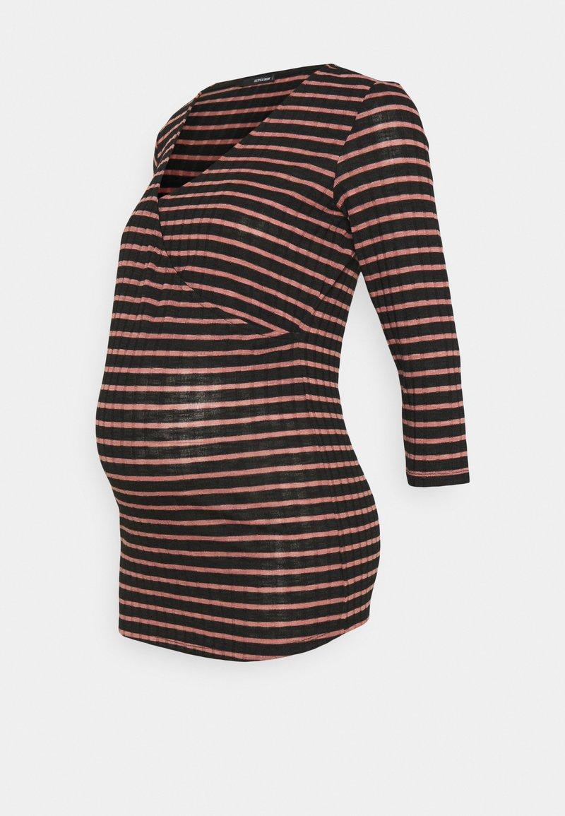 Supermom - STRIPE - Long sleeved top - rosette