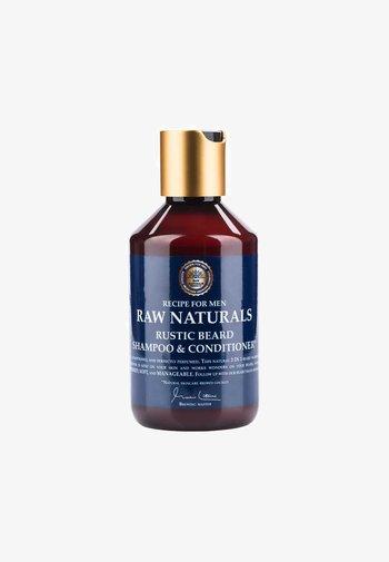 RUSTIC BEARD SHAMPOO & CONDITIONER - Beard shampoo - not defined, blue