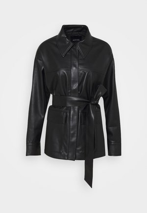 HILL  - Faux leather jacket - black