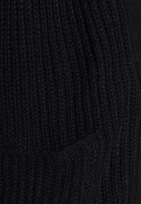 Missguided - LONGLINE PATCH POCKET CARDI - Cardigan - black - 4