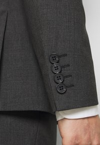 Isaac Dewhirst - RECYCLED CHECK DOUBLE BREASTED SUIT - Kostym - anthracite - 7