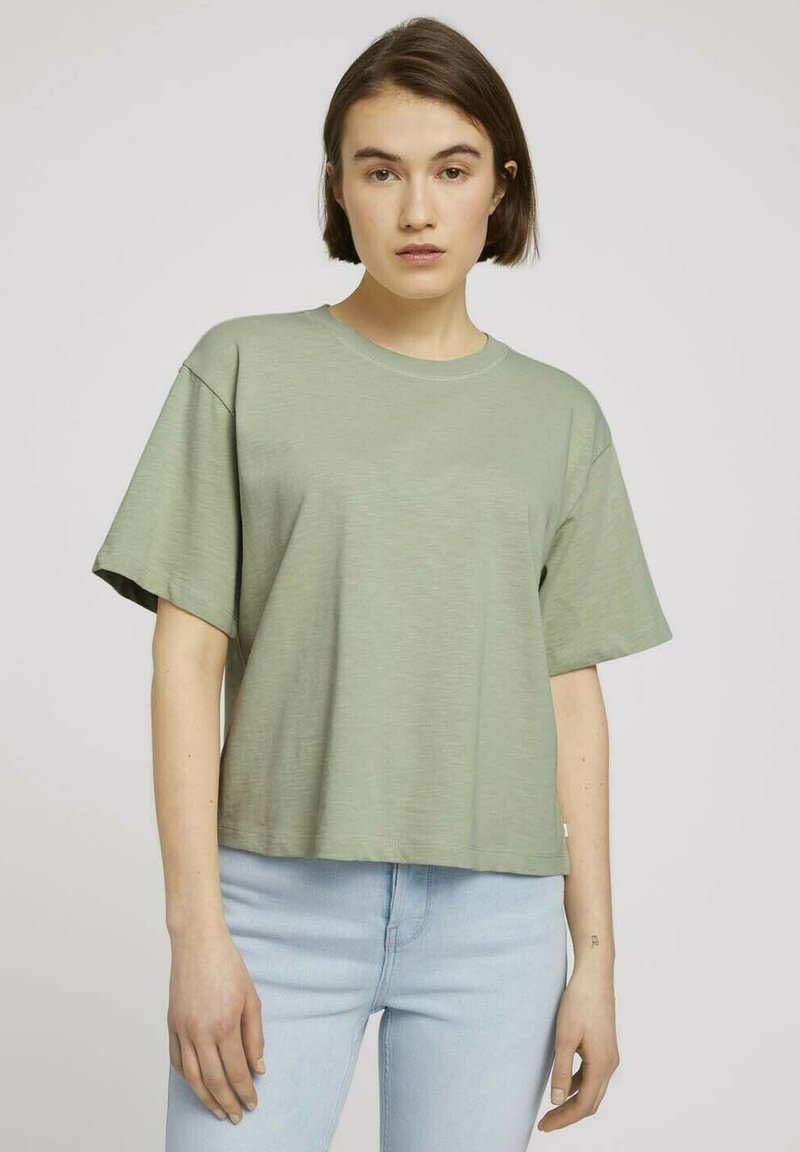 TOM TAILOR DENIM - Basic T-shirt - light dusty green
