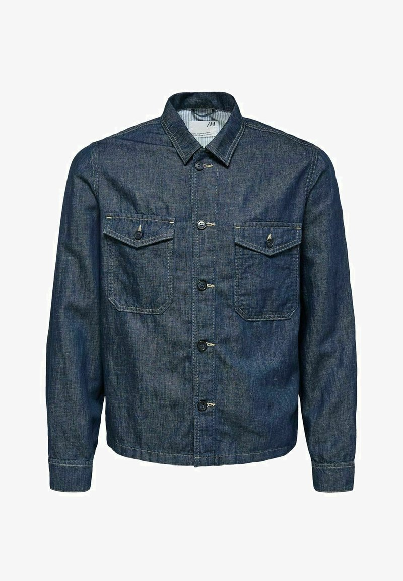 Selected Homme - Kurtka jeansowa - dark blue denim