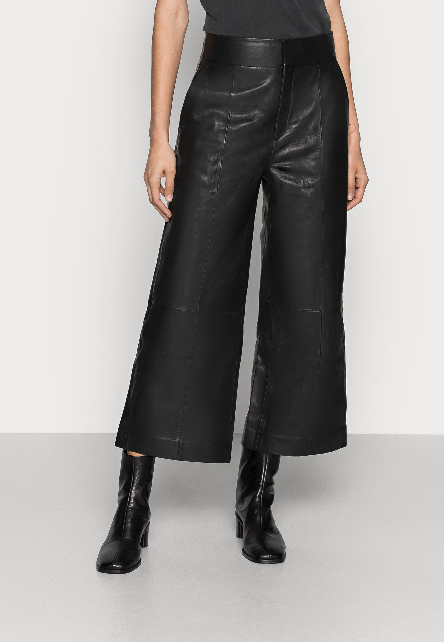 Women KARLEEN CULOTTE PANT - Leather trousers