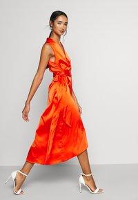 Never Fully Dressed - TANGERINE SLEEVELESS WRAP DRESS - Cocktail dress / Party dress - tangerine - 3