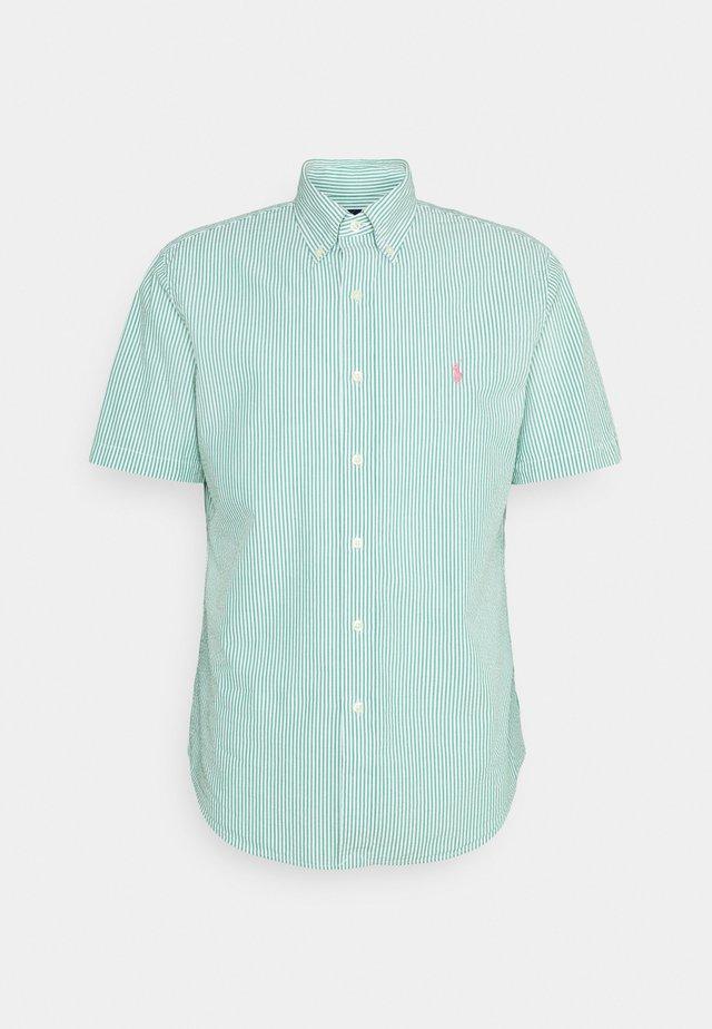 SEERSUCKER - Shirt - green/white