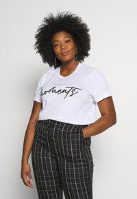 Kaffe Curve - TIVA - Print T-shirt - white - 0