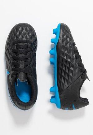 TIEMPO JR LEGEND 8 CLUB FG/MG UNISEX - Moulded stud football boots - black/blue hero