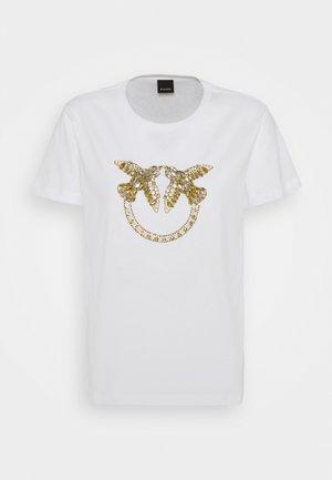 QUENTIN - Print T-shirt - white