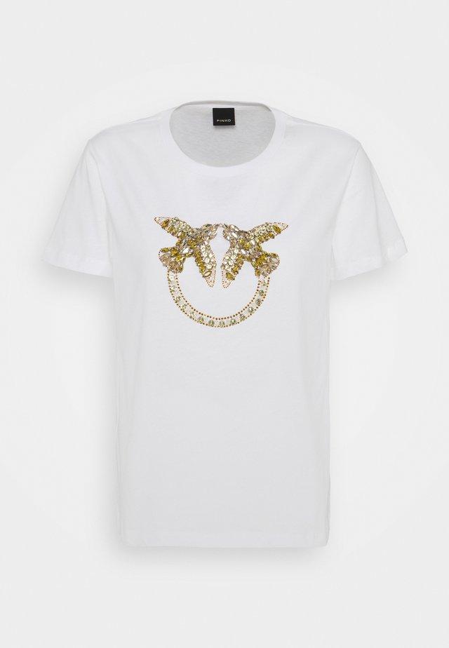 QUENTIN - T-shirt imprimé - white