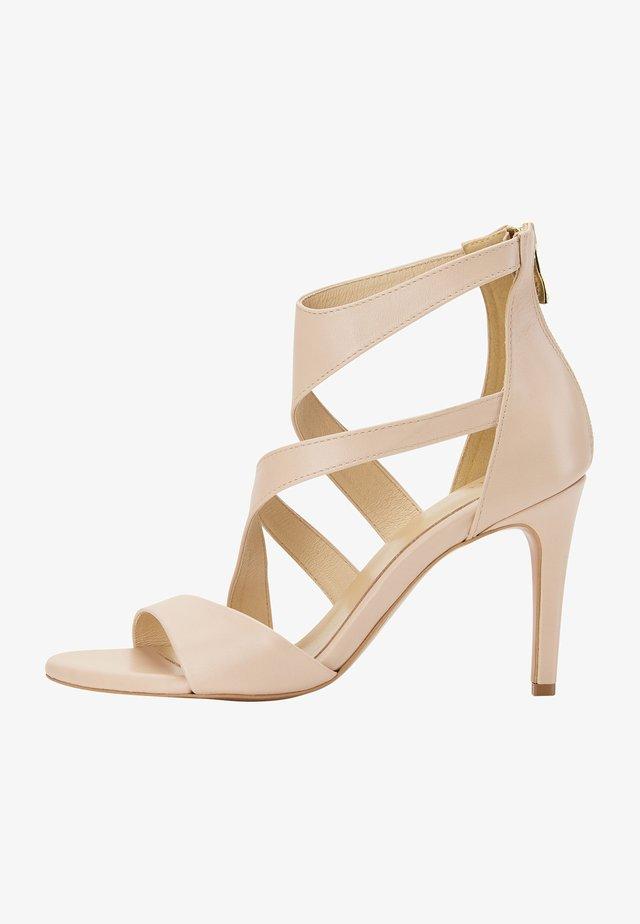 Sandalen met hoge hak - cream