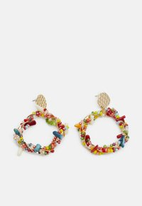 CRAFTED BEADS - Earrings - gold-coloured/multi-coloured