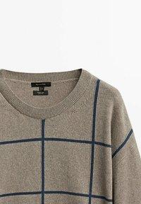 Massimo Dutti - Stickad tröja - beige - 4