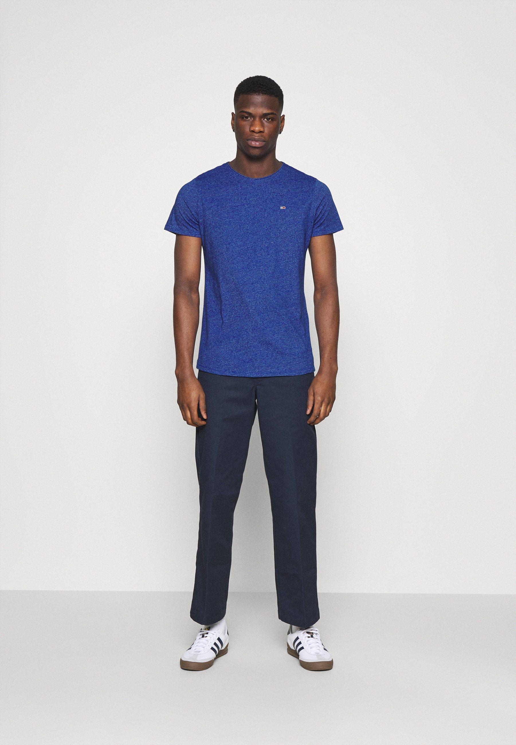 Men SLIM JASPE C NECK - Basic T-shirt