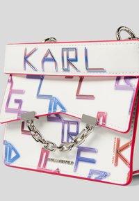 KARL LAGERFELD - SEVEN TETRIS - Handbag - white mult - 2