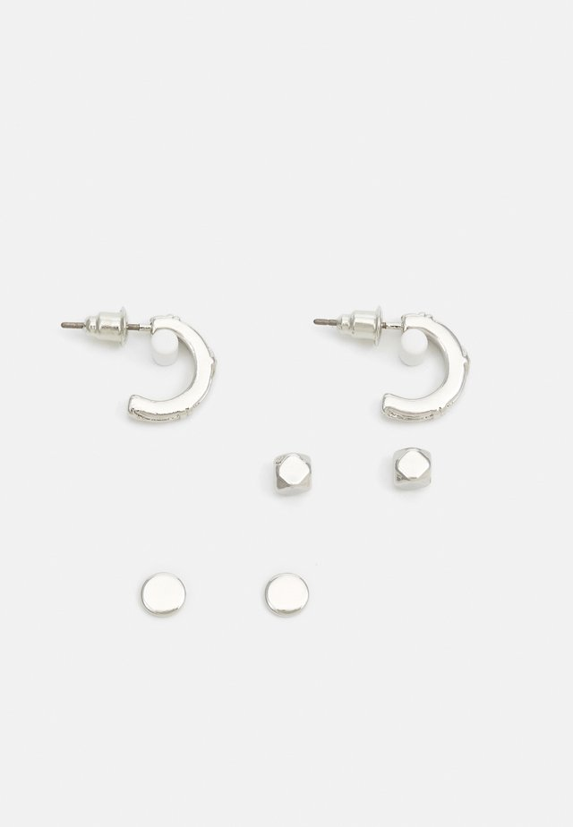 HOOP AND STUD 3 PACK - Náušnice - silver-coloured