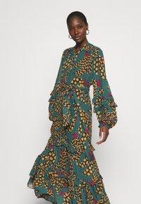 Farm Rio - TEAL BANANA MAXI DRESS - Maxi dress - multi - 3