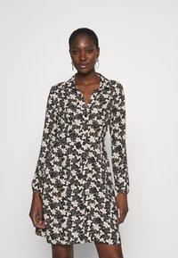 Mavi - LONG SLEEVE DRESS - Sukienka koszulowa - black - 0