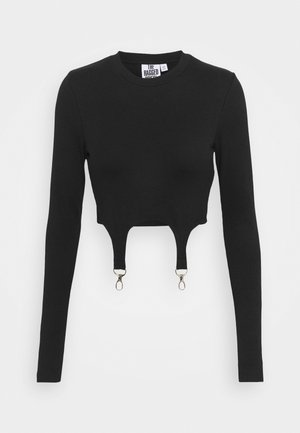 LONGSLEEVE RINGER TRIGGERS - Long sleeved top - black