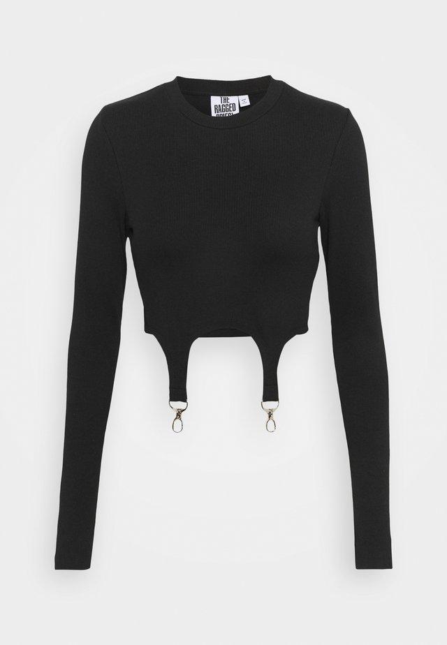 LONGSLEEVE RINGER TRIGGERS - Long sleeved top - black